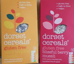 dorset gluten-free cereals, tropical or berry muesli-Heron foods, instore only (Northfield) - £1