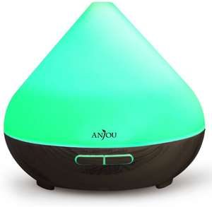 Anjou Essential Oils Diffuser 300ml Aromatherapy Ultrasonic Aroma Humidifier with Cool Mist-£14.99/White £16.99 @ Sold by SunValleyTek & FBA