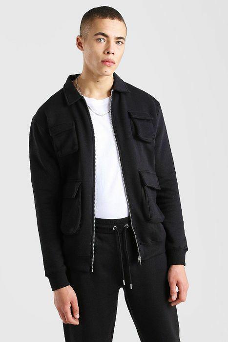 Jersey Utility 4 Pocket Harrington Jacket £7 + £1 delivery using code @ Boohooman