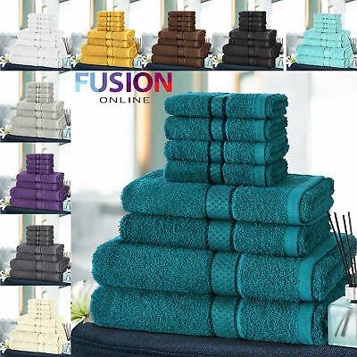 8pc Towel Bale Set Luxury 100% Egyptian Cotton Face Hand Bath Bathroom Towels £12.99 @ ebay / fusion_online