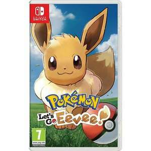 Pokemon: Let's Go Eevee! /Luigi's Mansion 3 (Switch), £36.80 each at AO/ebay with code