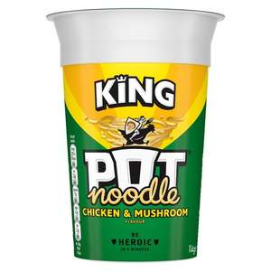 Pot Noodle King (All Varieties) 70p / Nature Valley Crunchy 5 X 42G (All Varieties) £1 @ Tesco