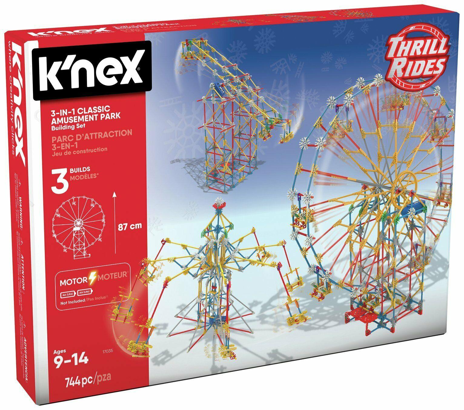 K'NEX 744 Part 3-in-1 Amusement Park Building Set £26.99 delivered @ Argos / eBay