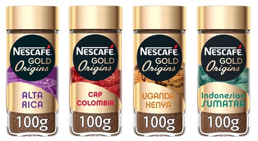 Nescafe Gold Origins 100g (Alta Rica / Cap Columbia / Sumatra / Uganda Kenya) - £2.24 @ Tesco