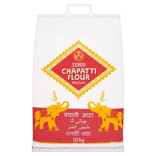 Tesco Medium Chapatti Flour 10Kg £3.50 @ Tesco