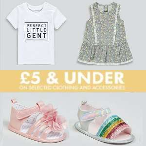 £5 & Under Baby Event - T-Shirts, Leggings from just £2.00 @ Matalan (£3.95 delivery / Free on £50)