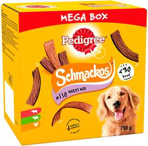 Pedigree Schmackos - Dog Treats Meat Variety, 110 Strips £5 or £4.50 subscribe and safe Prime / +£4.49 non Prime @ Amazon