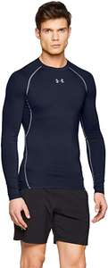 Under Armour Men's HeatGear Compression Shirt Long Sleeve Breathable Navy Blue Size Medium £12 Prime - Amazon (+£4.49 NP)