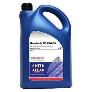EP 75w-80 API GL4 GL-4 Gear Oil - 5 Litres for £19.75 delivered @ smith_and_allan / eBay