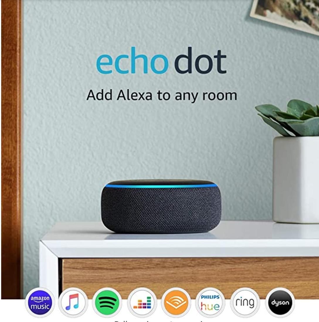 Echo Dot (3rd Gen) - Smart speaker with Alexa - Charcoal Fabric - £39.99 @ Amazon