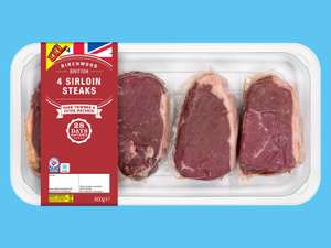 Birchwood 4 British 28-Day Matured Sirloin Steaks @ Lidl