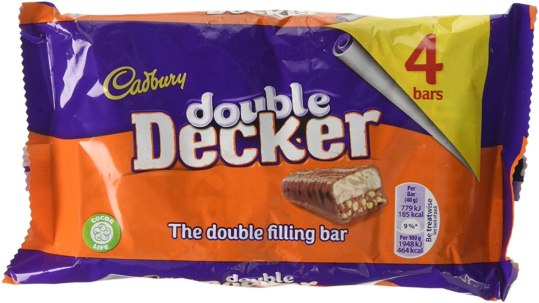 Cadbury Double Decker Chocolate Bar 160g (4x40g Bars) - £1.59 (+£4.49 Non-Prime) @ Amazon