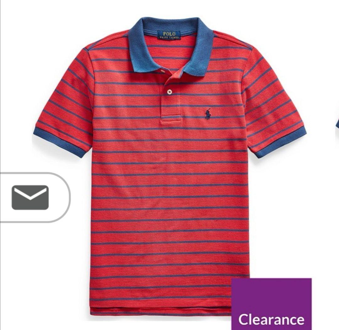 Ralph Lauren Boys Short Sleeve Polo Top - Red £16.80 delivered @ Littlewoods