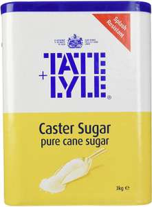 Tate & Lyle 3kg Caster Sugar £4.05 + £4.49 delivery NP @ Amazon