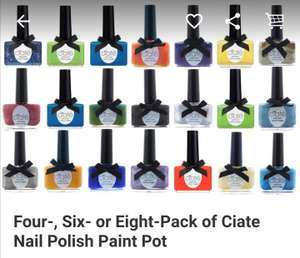 Eight Pack of Ciate Nail Polish - lucky dip pack £14.98 Delivered - Groupon