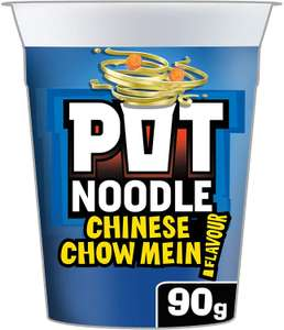 Pot Noodle Chow Mein Standard 90g (Pack of 12) £6.60 (£6.27 with S&S / + £4.49 NP) at Amazon