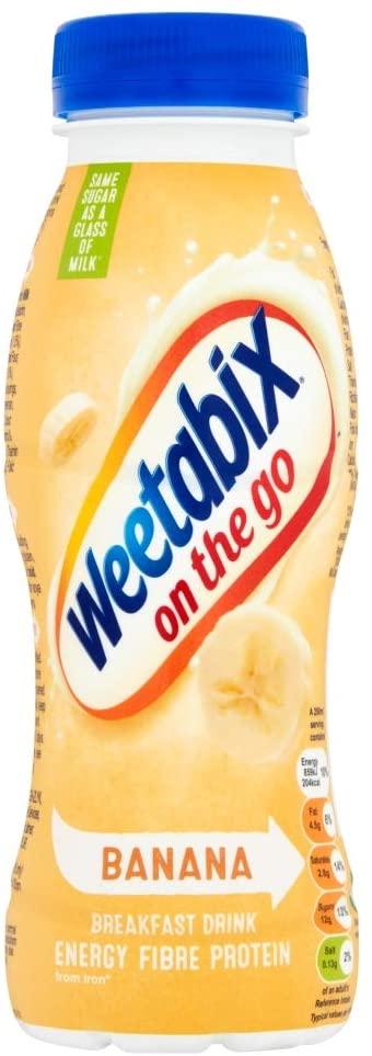 Weetabix on the go banana/chocolate flavour 250 ml (Pack of 8) - £5.76 banana/£6 chocolate Prime / +£4.49 non Prime @ Amazon