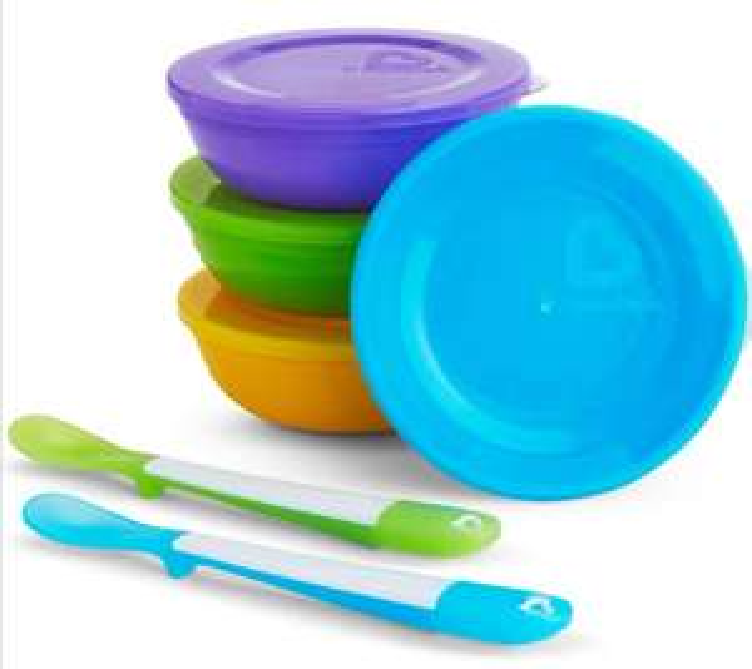 Munchkin Love a Bowls, 10 Piece Bowl and Spoon Set £4 (Prime) / £8.49 (Non Prime) @ Amazon