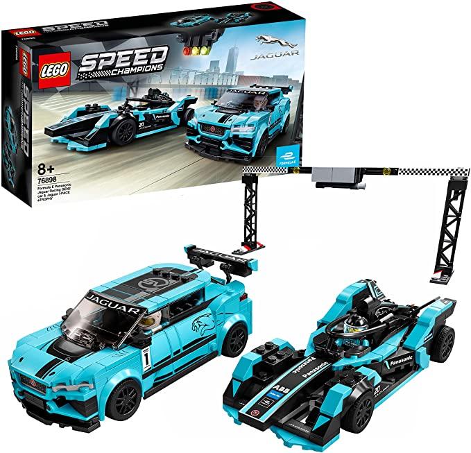 LEGO 76898 Speed Champions Formula E Panasonic Jaguar Racing Generation 2 car and Jaguar I-PACE eTROPHY £28 delivered at Amazon