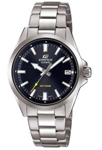 Casio Men's Edifice Silver Stainless Steel Bracelet Watch, Black/Blue, £49.99 + £3.95 shipping at Argos