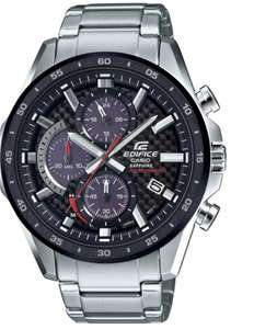 CASIO EDIFICE Men's Solar Sapphire Carbon Fibre Chronograph Watch, £99.99 at Argos (+£3.95 delivery)