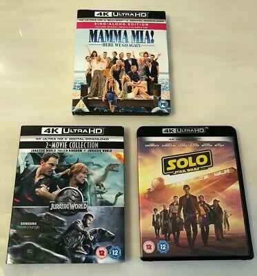 4x Movie Bundle - 4k UHD - Mamma Mia - Star Wars - Jurassic Park + Jurassic World £18.99 at youberdeals91 ebay