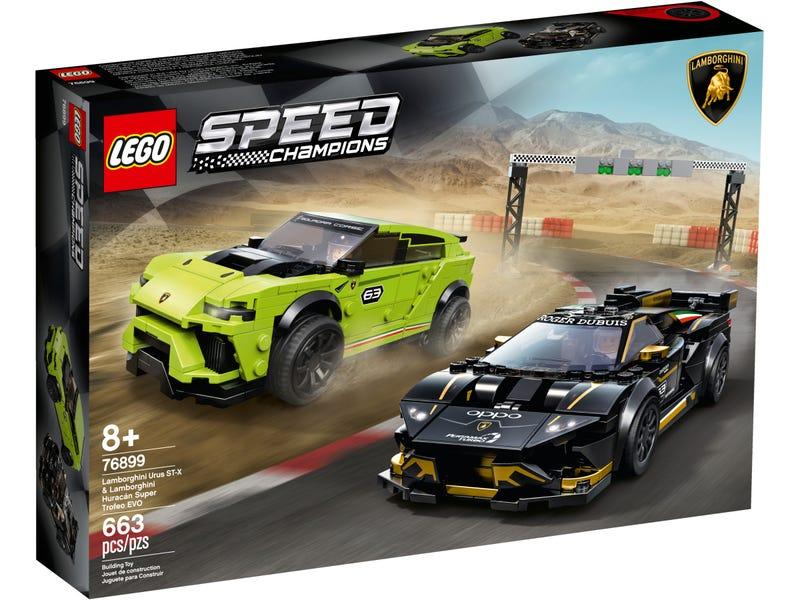 LEGO 76899 Speed Champions Lamborghini Urus ST-X and Lamborghini Huracan Super Trofeo EVO Race Cars Set £44 at Amazon