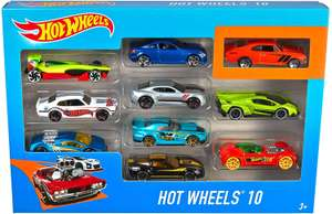 Hot Wheels 54886 10 Car Pack Assortment (Pack May Vary) £10 prime / £14.49 non prime @ Amazon