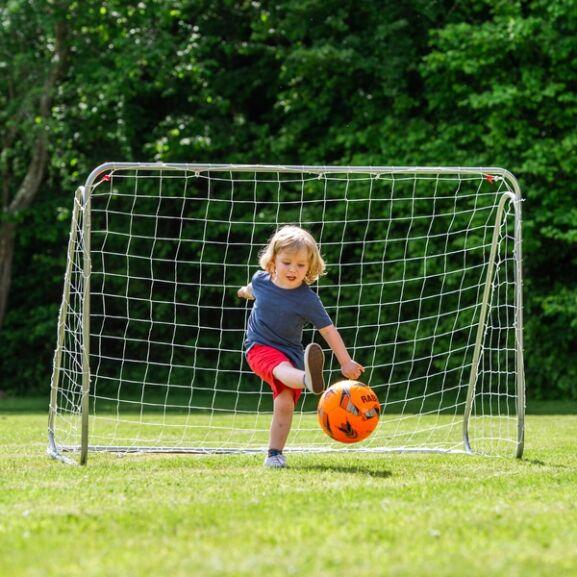 6ft x 4ft Football Metal Goal £19.99 / 8ft x 5ft Football Metal Goal £26.99 delivered @ Smyths