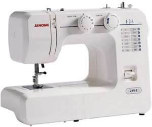 Janome 219-S sewing machine worth £99+ free with World Of Cross Stitching Magazine Subscription 13 issues £82.87 at buysubscriptions.com