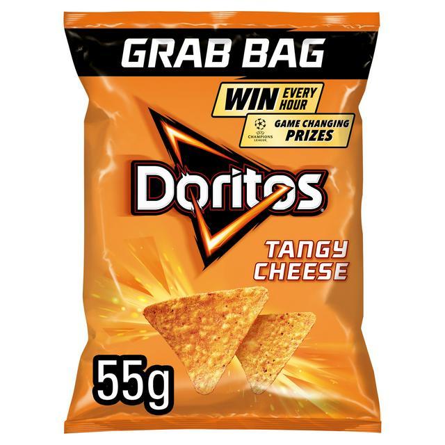 24 x 55g Grab Bags, Doritos Tangy Cheese Tortilla Chips. £6 instore @ Heron Foods Bentilee.