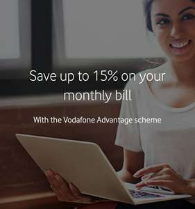 Vodafone advantage save 15% off your existing phone bill at Vodafone