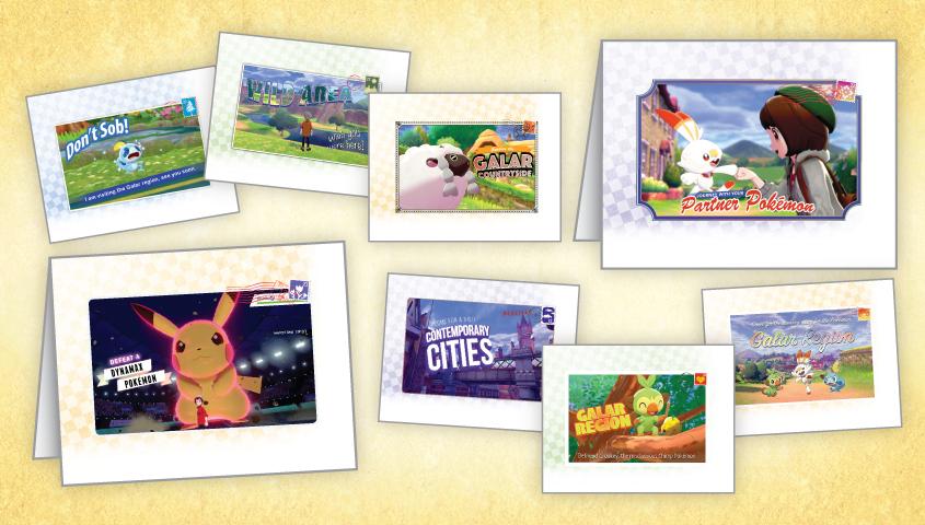 8 Free Printable Pokemon Sword/Shield Greeting Cards at Nintendo eShop