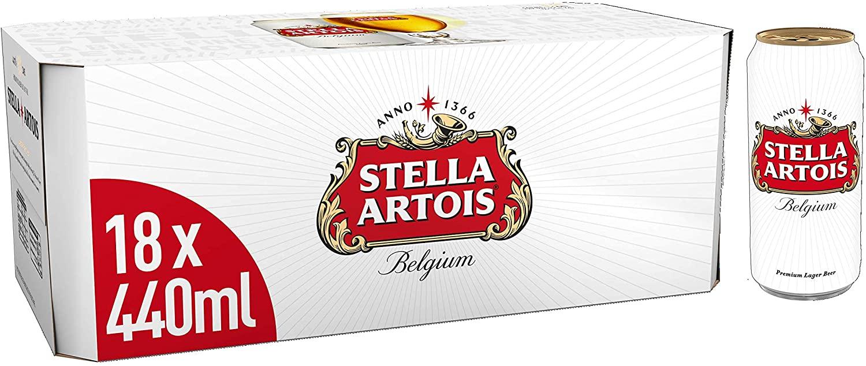 18 x 440ml Stella Artois £13.20 from Amazon Pantry (minimum order £15 / delivery £3.99)