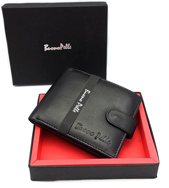 Buono Pelle Genuine Leather Mens Wallet Credit Carder Holder £4.95 (Prime) + £4.49 (non Prime) at Amazon via Discount Leather Mart