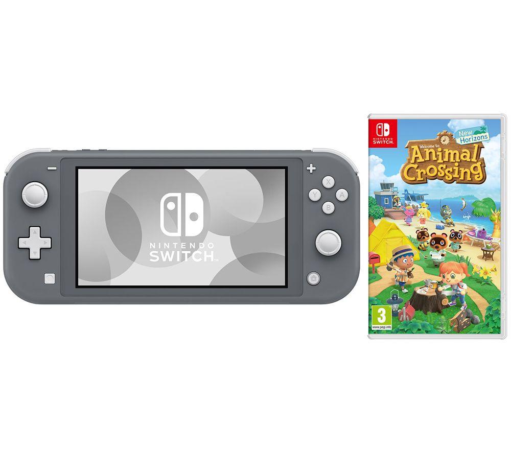 NINTENDO Switch Lite Grey & Animal Crossing: New Horizons Bundle £229 Currys