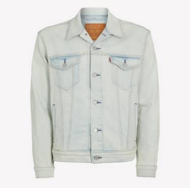 Levi's - Light Blue 'Trucker' Cotton-Blend Denim jacket Now £47.50 sizes S, M, L @ Debenhams