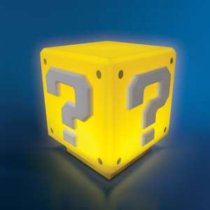 Nintendo Super Mario Mini Question Block portable Light featuring official game sounds! - Yellow £9.99 Delivered with Code From Zavvi