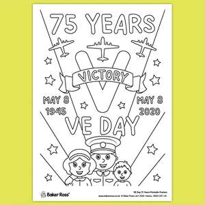 VE Day 75 Years Anniversary Poster & loads of other ART & Craft Resources at Baker Ross