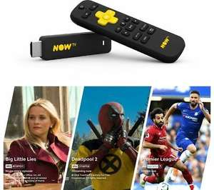 NOW TV Smart Stick with 1 Month Cinema, 1 Month Entertainment & 1 day Sports Pass - £18.99 @ Currys/eBay