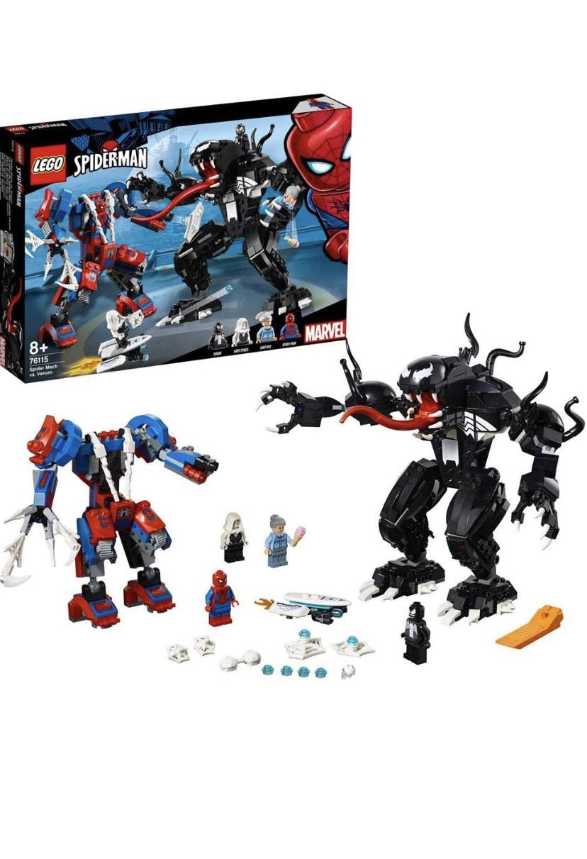 Lego 76115 Marvel Super Heroes Spider Mech vs. Venom £34.97 at Amazon