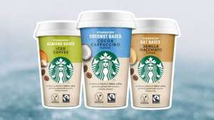 Starbucks almond based iced coffee £1 + nut based cocoa cappuccino £1 @ Morrisons (Free via checkoutsmart cashback)
