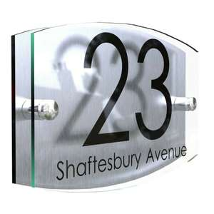 Personalised House Signs / House Numbers from £5.99 delivered @ eBay / ksmartsign