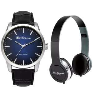 Ben Sherman Black Faux Leather Strap Watch and Headphone Set £24.99 / £28.94 delivered @ Argos