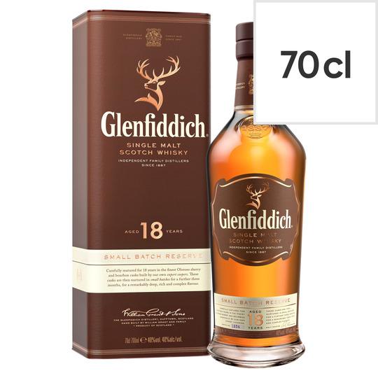 Glenfiddich 18yr old £43.55 at Tesco Newton Aycliffe, County Durham