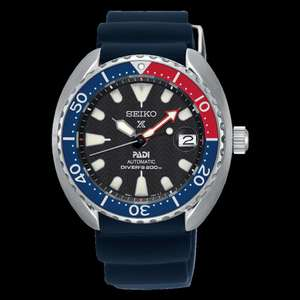 Seiko Men's Blue Prospex Automatic PADI Turtle Divers Watch SRPC41K1 £287.10 @ Hillier Jewellers