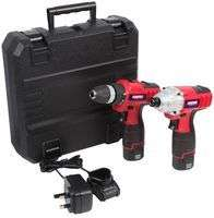 DURATOOL D03206 - 10.8V 2x 1.5Ah Li-Ion Cordless Drill Driver & Impact Driver Kit £57.58 delivered at CPC