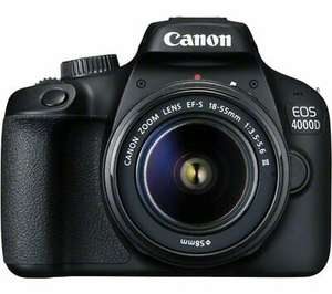 CANON EOS 4000D DSLR Camera with EF-S 18-55 mm f/3.5-5.6 III Lens - Currys Ebay - £278.81 @ Currys / eBay