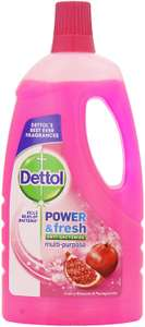 Dettol power and fresh floor cleaner cherry blossom and pomegranate 1 litre £1.29 prime, £5.78 non prime Amazon