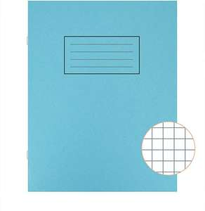 Silvine Exercise Book 7mm Squares 80 Pages 229x178mm Blue & Orange Pack of 10 - £2.89 (Prime) / £7.38 (non Prime) at Amazon